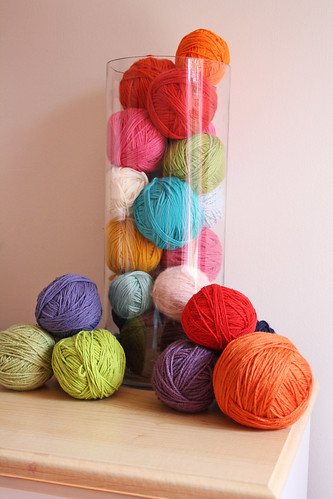 Yarn in a Glass Vase