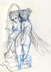 WIP Perfume Fairy sketch