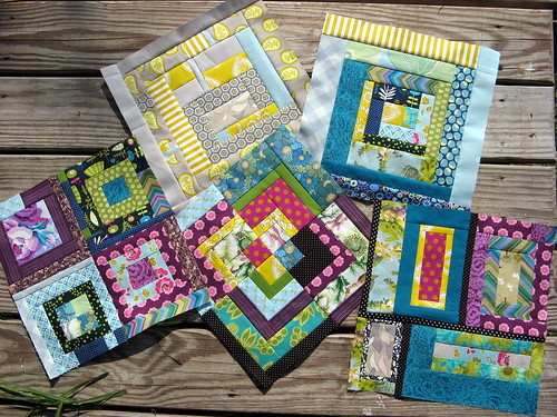 Bee Modern June - All five blocks together