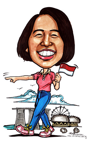 Caricatures for NUS -tour guide