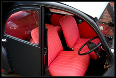 My 2CV has new seats at last (ds23pallas) Tags: old red black car matt rouge classiccar interior citroen snail voiture seats 2cv oldskool anciennes deuxchevaux mattblack deuche matteblack deuxpattes