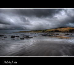 Bad weather? (pDOTeter) Tags: sea newzealand clouds coast stormy material catlins hdr badweather kakapoint photomatix nikond90