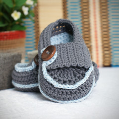 James baby boy booties (saplanet originals) Tags: boy shoes handmade crochet babybooties loafters