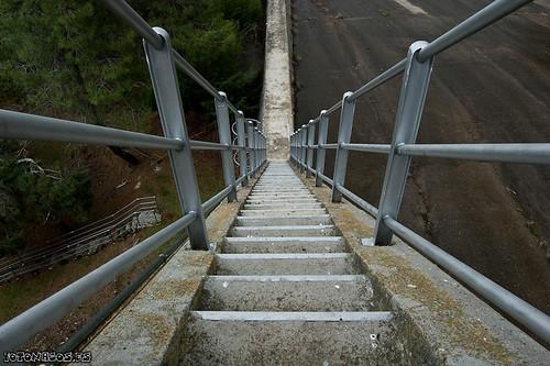 La presa del Embalse de Burguillo