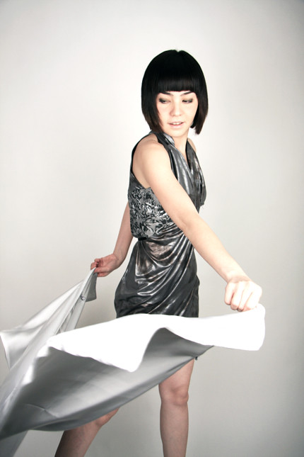 Wrap Dress with Mandarin Collar—Hazelle
