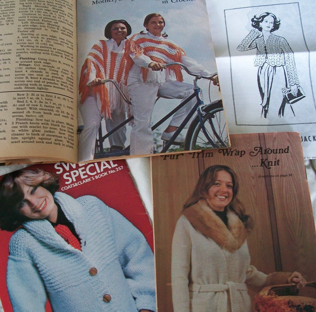 Collection of Vintage Knitting and Crochet Books