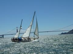 boat sailing goldengatebridge