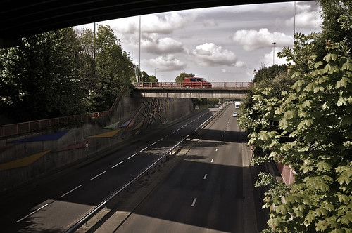 Above The A48 At Gabalfa Roundabout