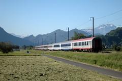 🇨🇭 EN 464 Zürichsee @ Sevelen (Wesley van Drongelen) Tags: en train zug sbb öbb hz trein ffs zürichsee cff sevelen euronight hž en464
