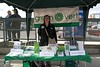 Green Party at Hats Off Day - June 5th, 2010 -  Carrie McLaren at booth (yumiang) Tags: hastings greenparty carriemclaren ilovegreen burnabyheights hatsoffday greenpartycanada greenpartybc