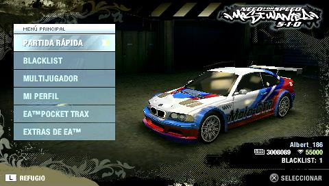 Need For Speed Most Wanted Para PSP 6.37 (Sin Hack).