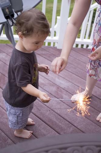 Nathan Holding The Sparkler