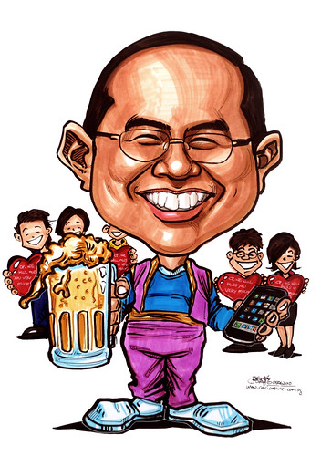 Caricature for Ministry of Manpower (MOM) - genie