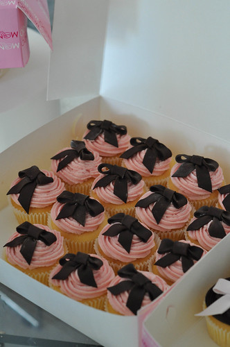 Pink Brown Christening Cupcake