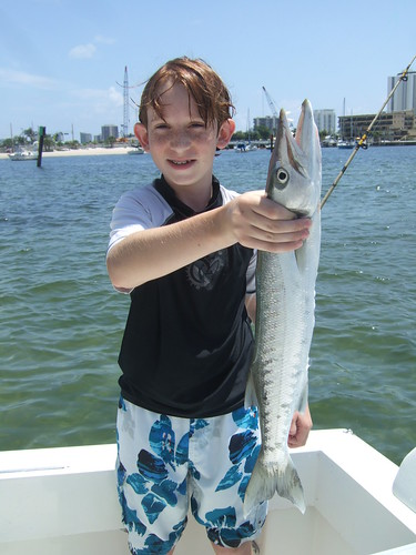 Bradley catches a nice barracuda!