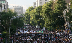 - (2) (sabzphoto) Tags: people iran crowd protest 24 tehran farshad  khordad iranelection    farahsa
