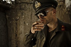 Fuck Discipline (Alexander C. Kokkinos) Tags: portrait army war military bad smoking rank officer unconventional