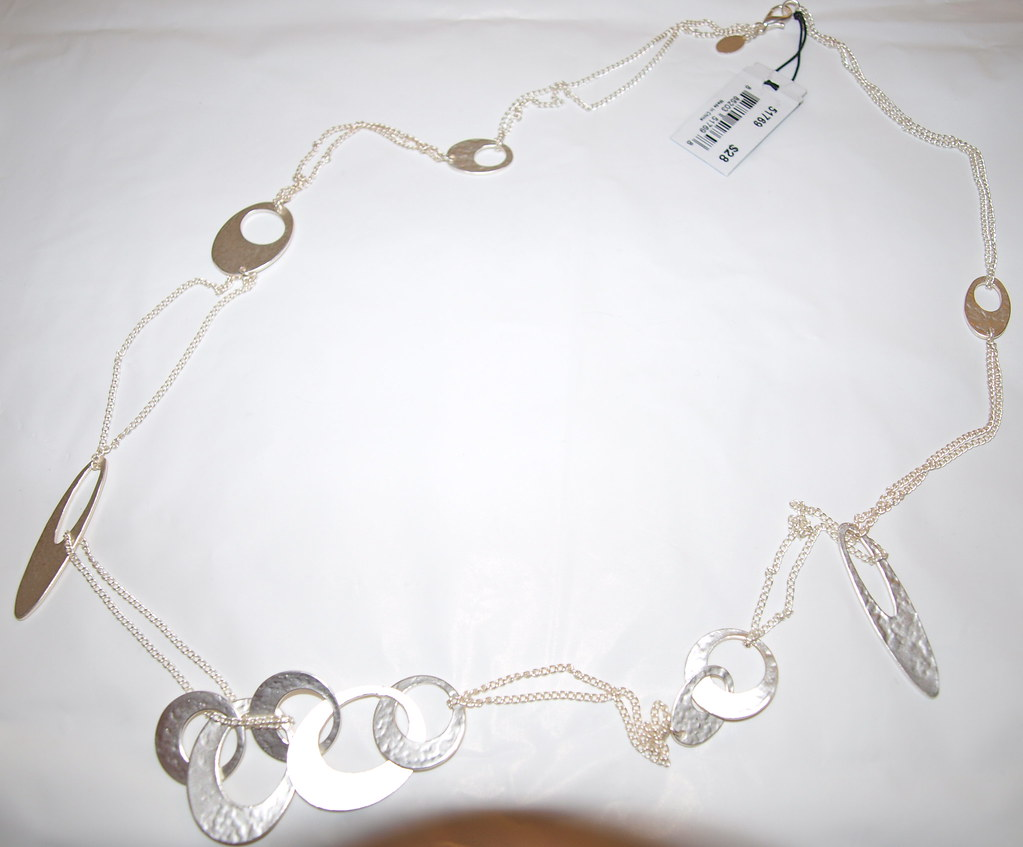 Long Modish Circles Necklace Item #51769 $28.00