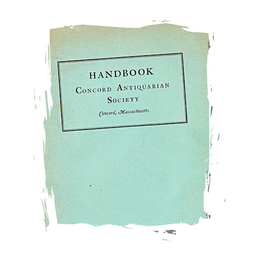 handbook concord antiquarian society