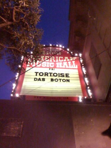 Tortoise marquee