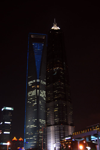 m158 - Jīnmào Tower & Shanghai World Financial Centre at Night