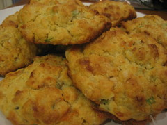 Blue cheese scallion biscuits