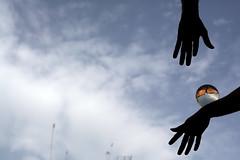 Surrealism (luce_eee) Tags: world sky rome roma hands nuvole hand surrealism cielo fantasia immaginazione sfera canon5dmarkii 150primavere