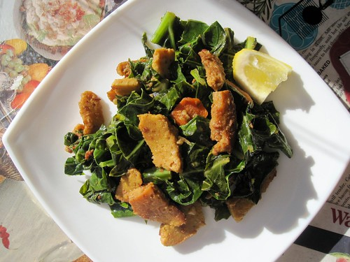 american vegan lite seitan & greens