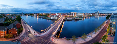 From King Johns to The Clarion... (Limerick City) (climberhunt (Dave Hunt)) Tags: panorama castle strand bluehour limerick clarion kingjohnscastle clarionhotel strandhotel