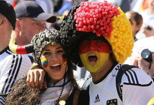 Mundial Sudáfrica hinchas Alemanes