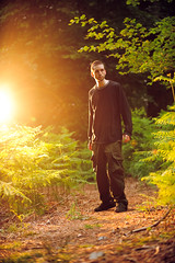 i believe in happy endings (andrew evans.) Tags: lighting morning light portrait england nature fairytale forest self golden kent spring woods nikon bokeh flash flare wonderland magical 70200 f28 enchanted d3 strobe strobist
