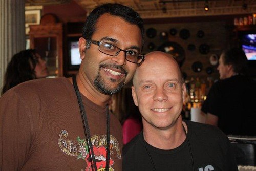 Ujesh and Scott Hamilton at Band Camp