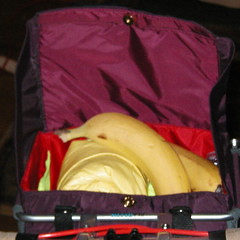 A magnetic snap for the prototype handlebar bag