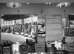Ellis Island: From Gateway to Museum (Houry Photography -on/off) Tags: wood ny history museum lights pillows posters gateway leader immigrants wicker ellisisland suitcases canon50d houryphotography