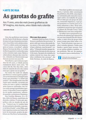 Revista São Paulo - As garotas do grafite