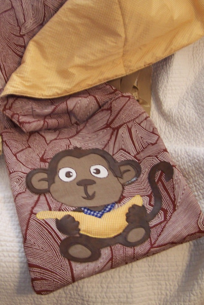 Monkey Personalized Quillow by Melanie Bacom