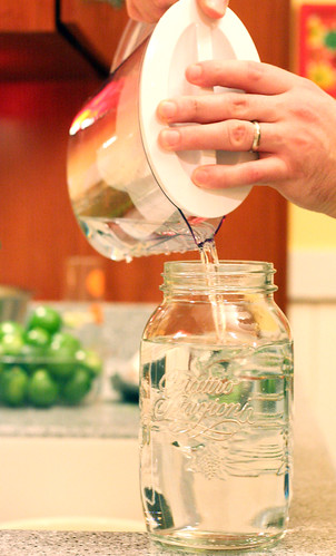 Lime-cello: filtering the vodka