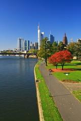 skyline of Frankfurt /Germany (Achim Thomae) Tags: city skyline germany deutschland hessen frankfurt main stadt fluss bankenviertel metropole hochhaus wolkenkratzer mainhattan rheinmaingebiet thomae achimthomae finanzmetropole