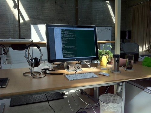 My Desk @ SimpleGeo SF