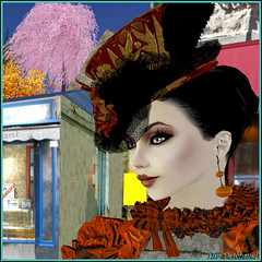 Pearl Ashton (Tim Deschanel) Tags: life portrait sun halloween tim avatar sl second pearl soire ashton domain suns deschanel farzam