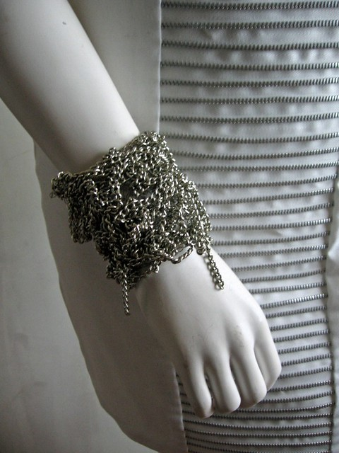 ETSY Messy silver chain cuff by Chezkevito