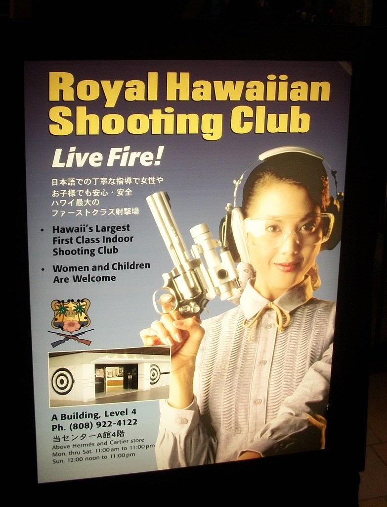Hawaii Gun Club Sign