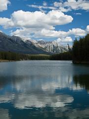 Johnson Lake (Daedalus_T) Tags: park lake canada mountains clouds johnson national alberta banff banffnationalpark johnsonlake