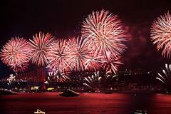 Fireworks on Bosphorus (H e r m e s) Tags: blue color colour turkey boats boat interesting fireworks türkiye istanbul türkei turkish bosphorus marmara feuerwerk galata goldenhorn beyoğlu cumhuriyetbayramı