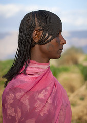 Miss Lilou, Afar girl with traditional haircut, Danakil, Ethiopia (Eric Lafforgue) Tags: woman haircut cute girl beauty hair profile culture tribal single tribes tradition tribe tatoo ethnic hairstyle tribo ethnology tribu tatouage thiopien etiopia ethiopie etiopa  1162 etiopija ethnie ethiopi  etiopien etipia  etiyopya          coiffire