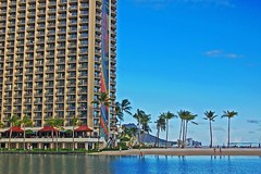 Rainbow Tower & Hilton Lagoon (jcc55883) Tags: hawaii waikiki oahu rainbowtower hiltonlagoon