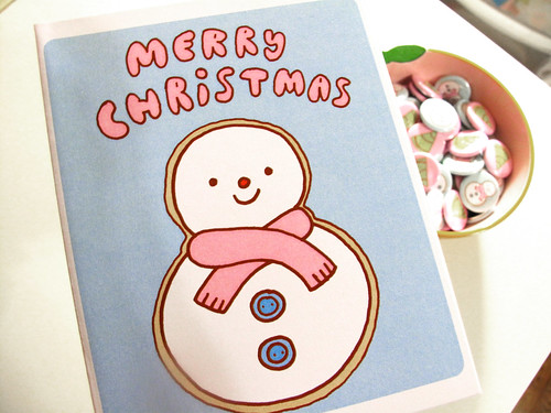 Christmas Card Set - Snowman Design