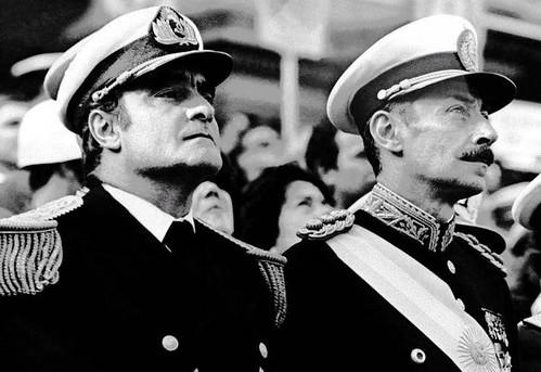 Emilio Eduardo Massera y Jorge Rafael Videla cuando integraban la Junta Militar