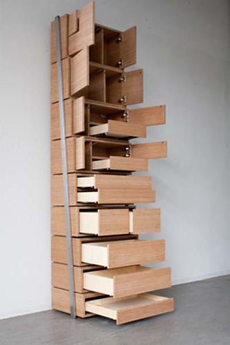 酷设计:楼梯收纳柜
