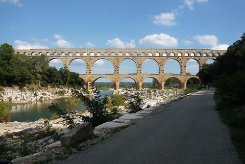 The Roman aqueduct, Pont du Gard, near Nîmes. Photo: Gerry Patterson